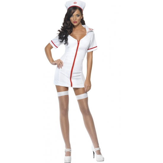 Wit verpleegsters verkleedkleding