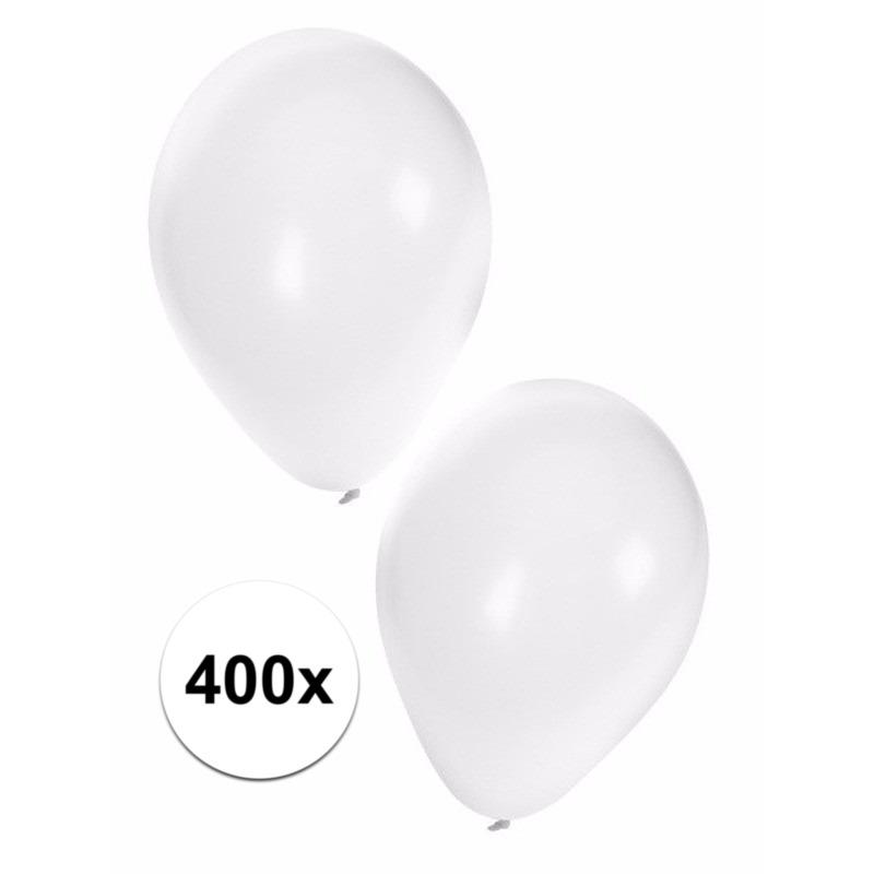 Witte ballonnen 400 stuks