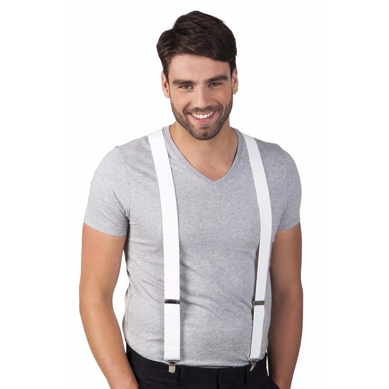 Witte bretels voor volwassenen