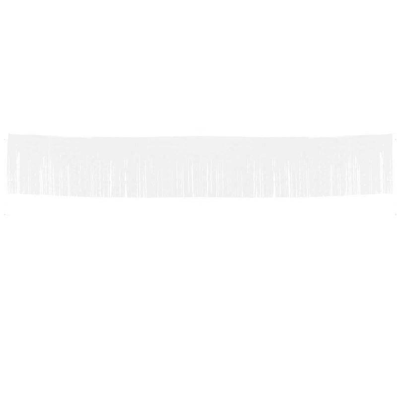 Witte franje slinger 10 meter