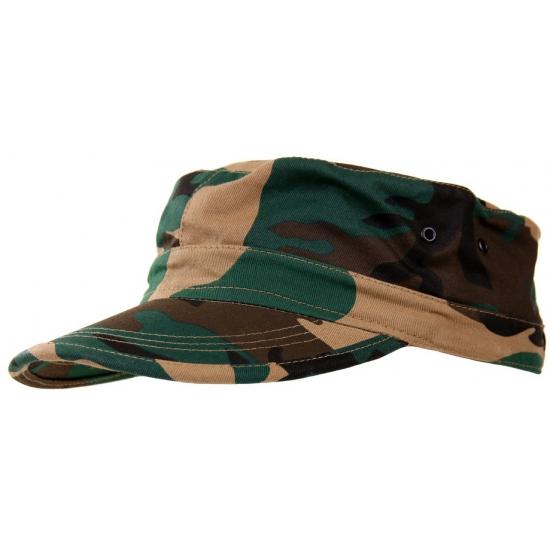Woodland camouflage army cap kids