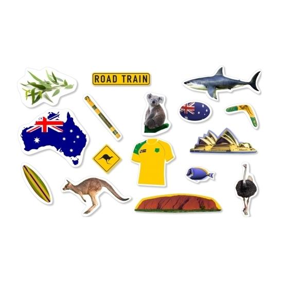 Zakje Confetti Australie thema ongeveer 54x stuks