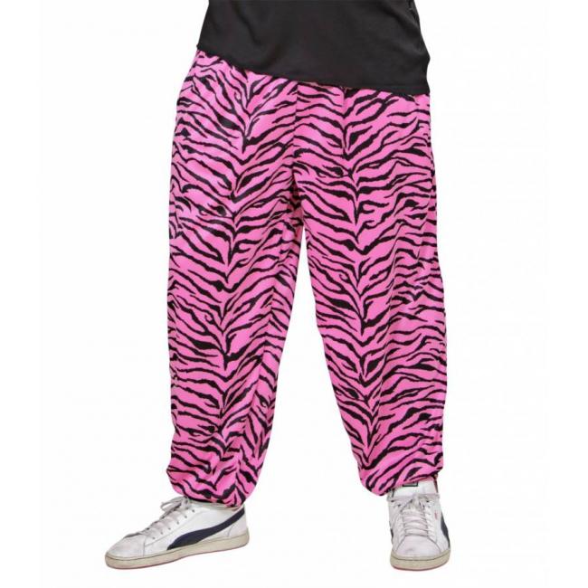 Zebra print broeken voor heren