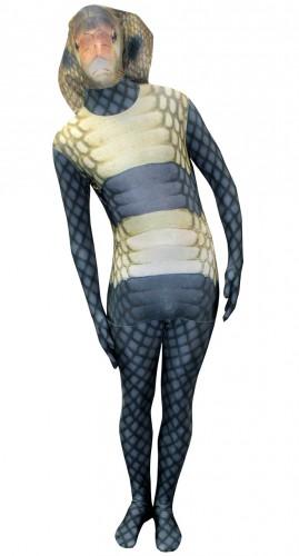 Zentai outfit cobra slangen print