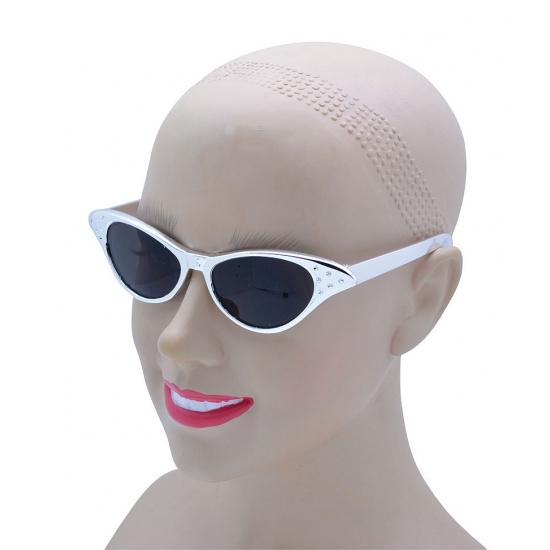 Zilveren bling bling zonnebril