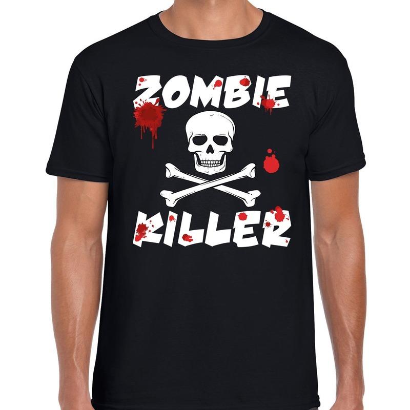Bellatio Decorations Zombie killer Halloween t-shirt zwart heren