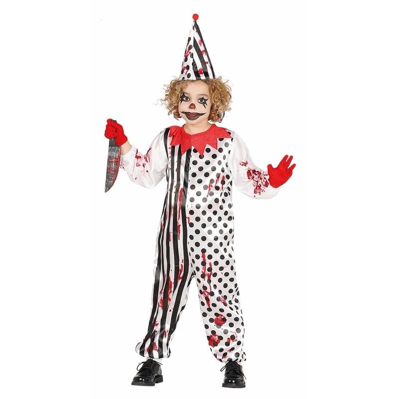 Merkloos Zombie moordenaar enge clownspak voor kinderen