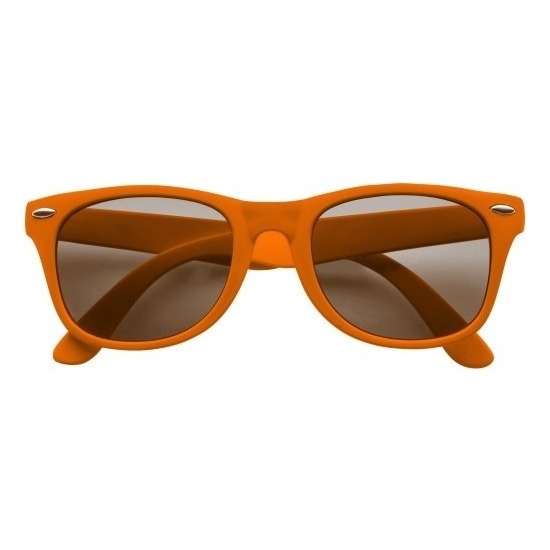 Zonnebrillen oranje plastic montuur voor volwassenen