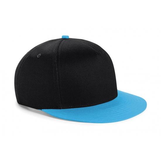 Zwart met blauwe kinder baseball cap