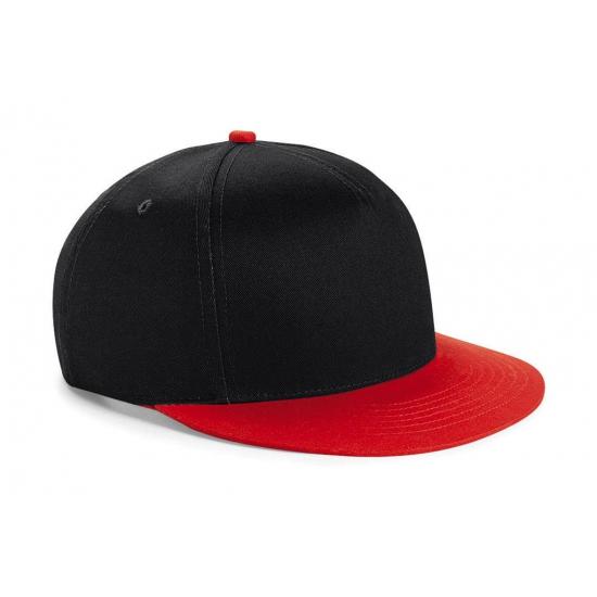 Zwart met rode kinder baseball cap