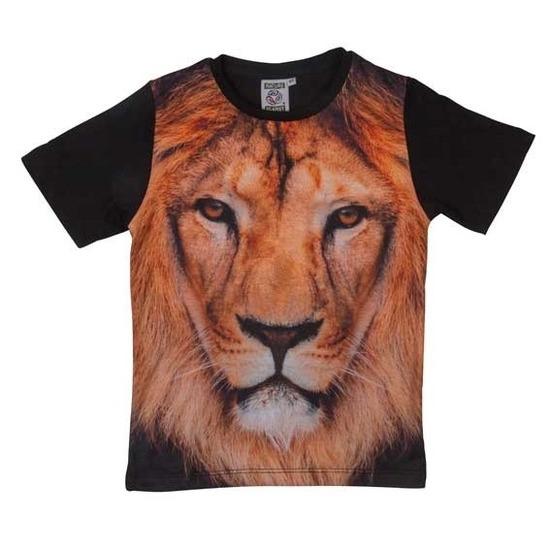 Zwart t-shirt met leeuw voor kinderen