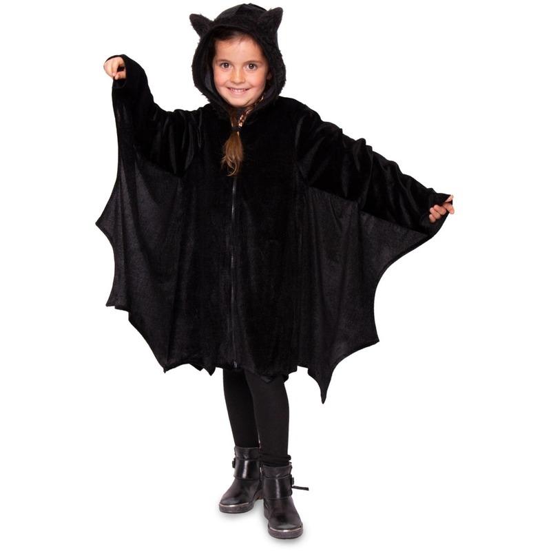 Merkloos Zwart vleermuis verkleed jasje voor kinderen