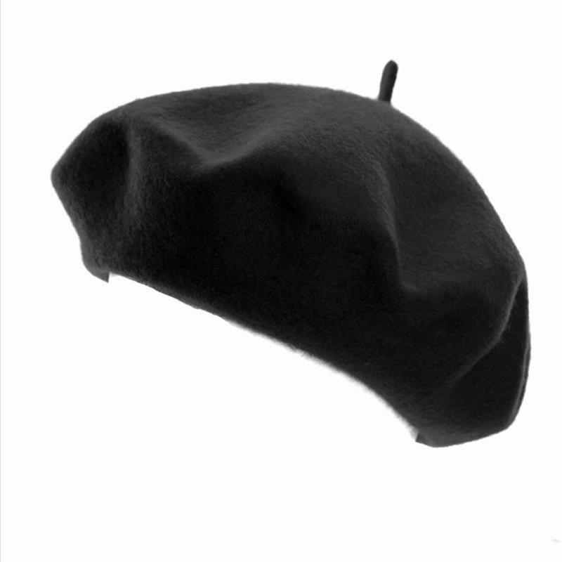 Zwarte baret voor dames