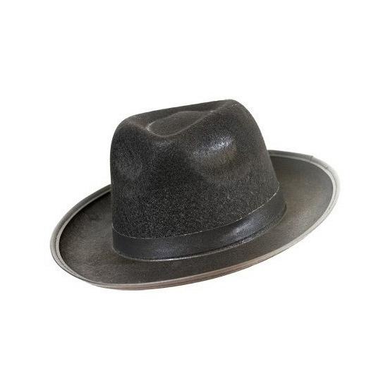 Merkloos Zwarte Blues hoed vilt