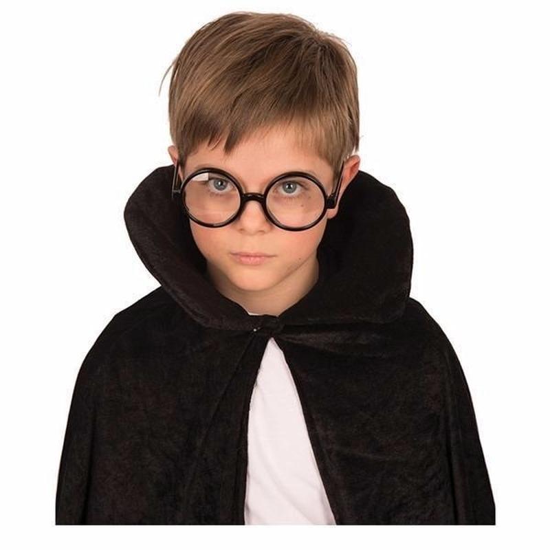 Merkloos Zwarte bril met ronde glazen