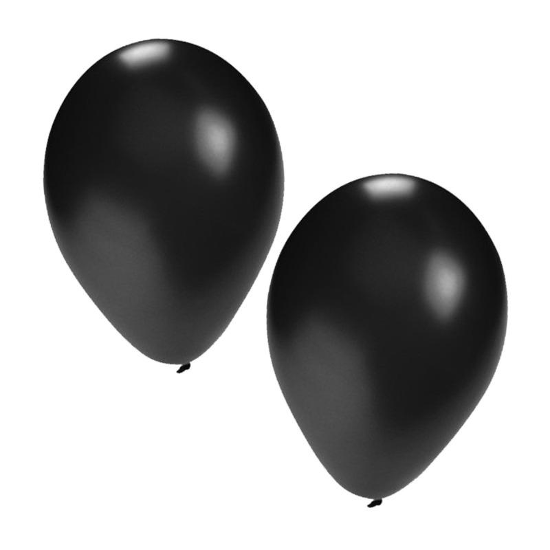 Zwarte versiering ballonnen 25x st