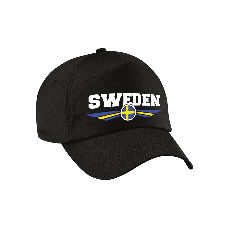Zweden - Sweden landen pet - baseball cap zwart kinderen