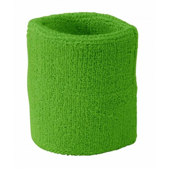 Zweet polsbandjes gekleurd lime groen